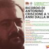 """""""Ricordo di Antonino Criscione a 15 anni dalla morte"""" (Casa della memoria, Milano, 27 settembre 2019), promosso dall'Istituto Nazionale Ferruccio Parri"""